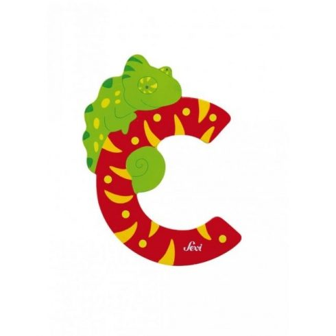 "Sevi állatos fa betű ""C"""