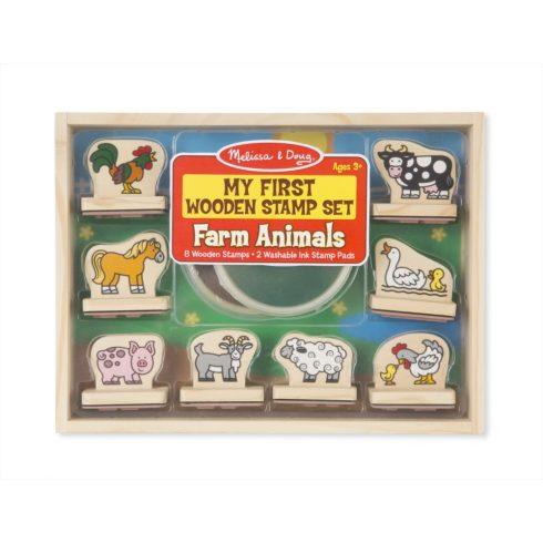 Melissa & Doug Fa nyomda készlet, Első nyomdám, farm állatai