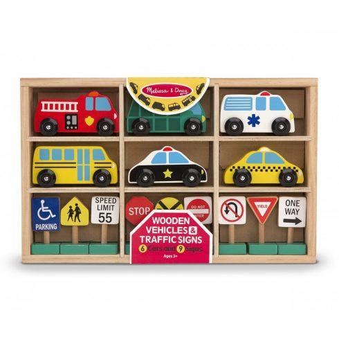 Melissa & Doug Fa jármű, Autók és közlekedési táblák