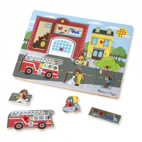 Melissa & Doug Hangos puzzle, Tűzoltóállomás