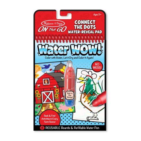 Melissa & Doug Kreatív játék, Rajzolás vízzel, kösd össze a számokat, farm
