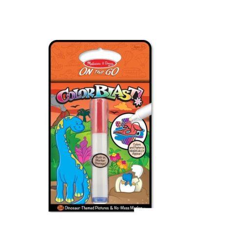 Melissa & Doug Kreatív játék, Színrobbanás színező füzet, dínók