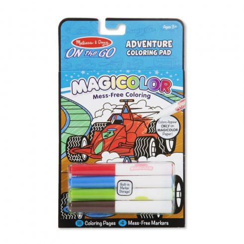 Melissa & Doug Kreatív játék, Mágikus színező füzet, kalandok
