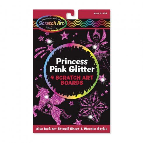 Melissa & Doug Kreatív játék, Képkarc glitter, hercegnő
