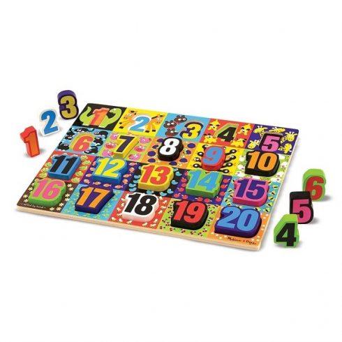 Melissa & Doug Óriás puzzle számok