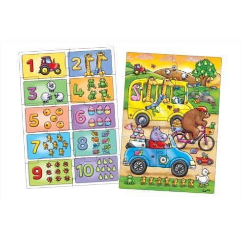 Orchard Toys Keress és találj... Számok puzzle, 2x10 db-os