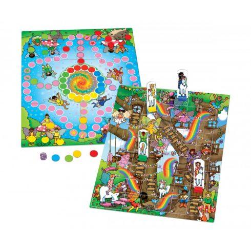 Orchard Toys Tündérszivárványok & Létrák és Ki nevet a végén