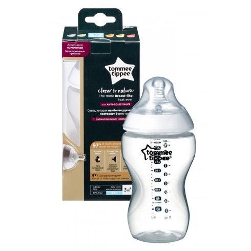 Tommee Tippee Cumisüveg 340 ml - 2 cseppes etetőfejjel