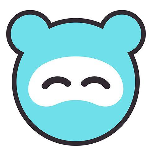 Cangaroo Mommy Panda Tányér - Pink