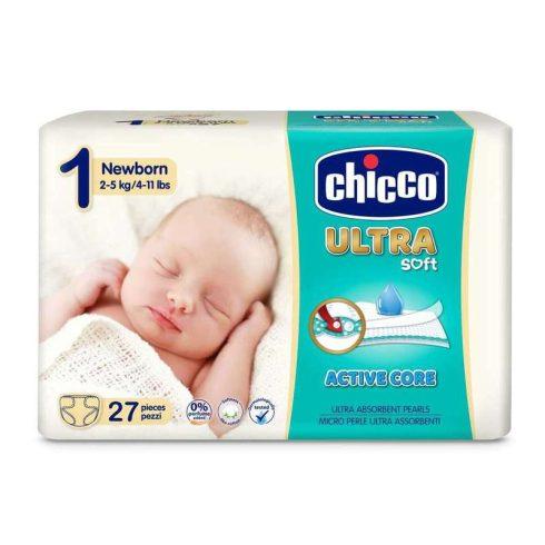 Chicco Ultra Soft Newborn újszülött-pelenka 2-5 kg, 27 db