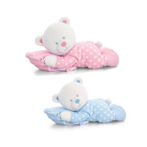 Keel Toys Plüss baby maci párnával 30cm
