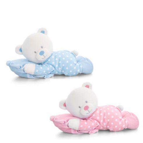 Keel Toys Plüss baby maci párnával 25cm