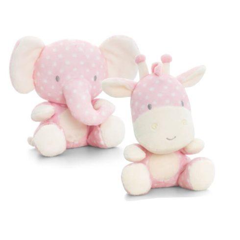 Keel Toys Plüss bébi pettyes vadállat - Pink