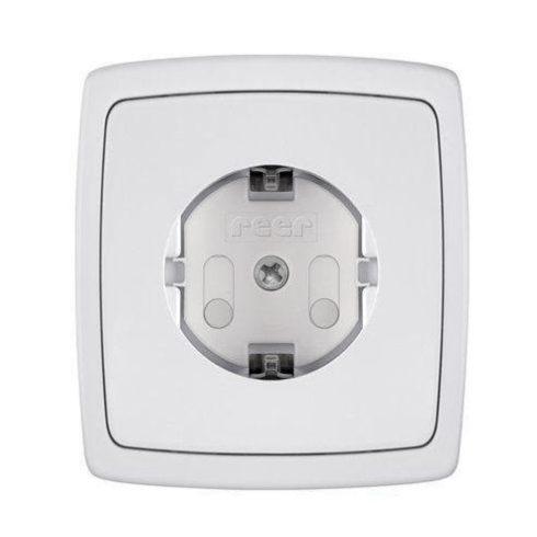 Reer Csavarozható Konnektorvédő 20db - fehér
