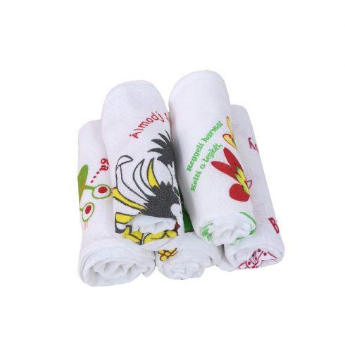 Nyomott mintás textilpelenka -5db