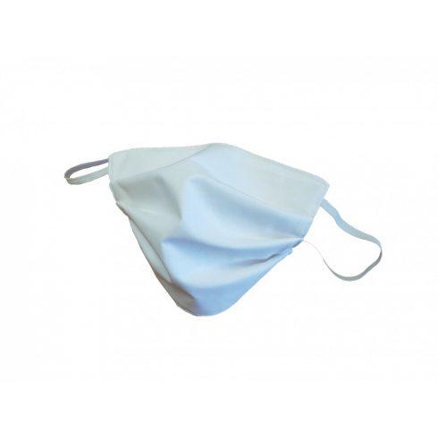 Textil gumis szájmaszk Felnőtt - Fehér